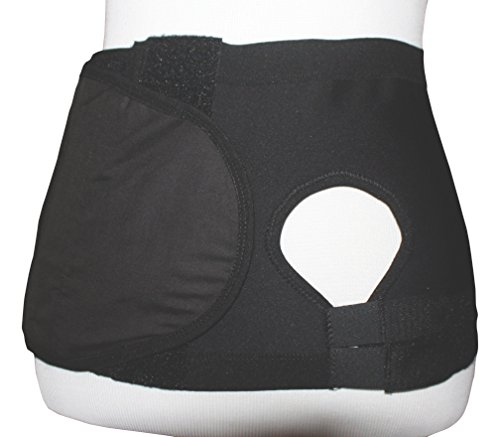 Safe n' Simple Left Hernia Support Belt with Adjustable Hole, 20cm, Black, XX-Large by Safe n' Simple
