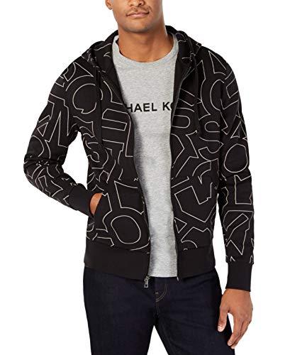 Michael Kors Logo Print Full Zip Long Sleeve Hoodie Jacket