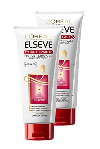L'Oréal Paris Elseve Soin Miracle Instantané Cheveux Secs Abimés Total Repair 5 - Lot de 2 Elsève