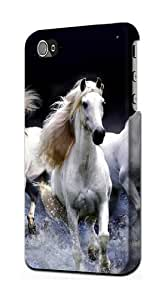 S0246 White Horse Case Cover for IPHONE 5C by lolosakes