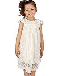 Flower Girl's Dress Vintage Lace Off White
