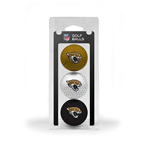 Team Golf NFL Jacksonville Jaguars Regulation Size Golf Balls, 3 Pack, Full Color Durable Team - Jaguar Golf