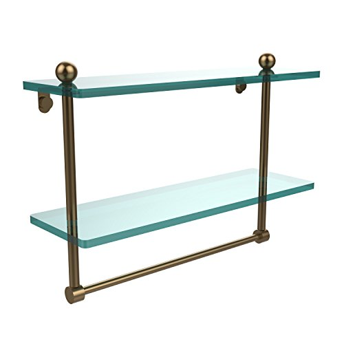 Review Allied Brass PR-2/16TB-BBR 16-Inch by 5-Inch Double Glass Shelf By Allied Brass by Allied Brass