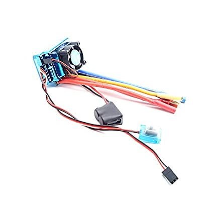 AKDSteel Waterproof 45A 60A 80A 120A Brushless ESC Electric Speed Controller Dust-Proof for 1/8 1/10 1/12 RC Car Crawler RC Boat Part 120A KSX3456 -for Toys: Home & Kitchen