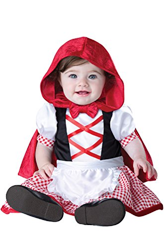 InCharacter Costumes Baby Girls' Little Red Riding Hood Costume, Red/White, Medium -