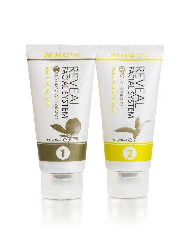 doTERRA - Essential Skin Care - Reveal Facial System - 1 Kit Includes Refining Polish and Peptide Activator (3.4 oz total)