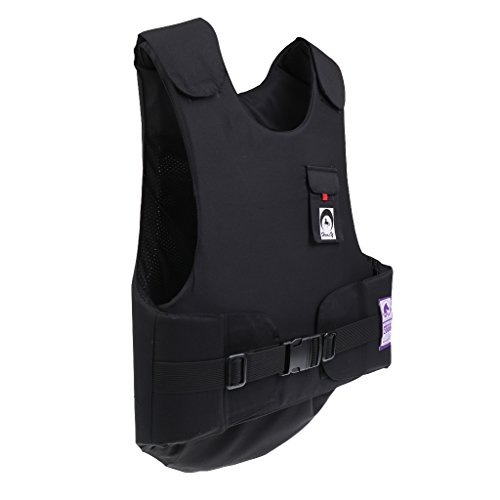 (MonkeyJack Equestrian Flexible Body Protector Horse Riding Vest BETA 2009 Level 3 - Black, M)