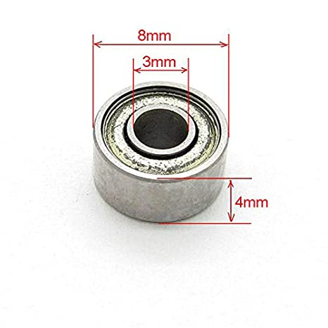 Details about  /Miniature Deep Groove Ball Bearing 693ZZ 3x8x4mm Bearing Steel Double Shielded