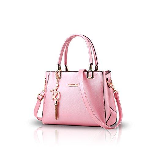 Ladies amp;DORIS Totes Crossbody Women Purse Pink PU for Leather Handbag Pink Bag Shoulder Resistant NICOLE Fashion Water g7zqwqR