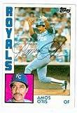 Amos Otis autographed baseball card (Kansas City Royals) 1984 Topps #655 Ball point pen - Autographed Baseball Cards