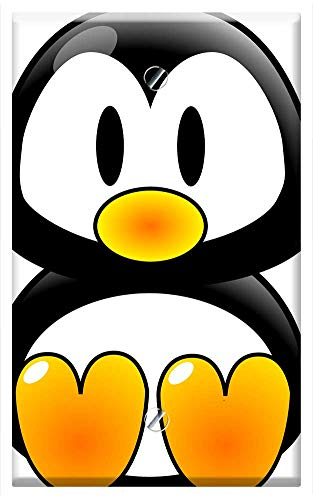 Single-Gang Blank Wall Plate Cover - Penguin Arctic Polar Bird Tux Baby Wildlife Cold
