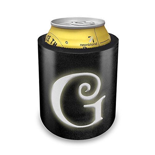Slap Can Koozie G blank characters, letter Insulator Cooler - Neonblond