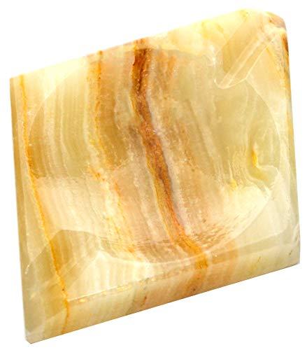 (Beautiful Amber Onyx Aragonite Diamond Ashtray, 4
