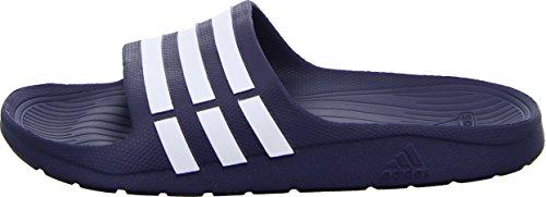 adidas Duramo Slide - Zuecos Unisex adulto Bleu (True Blue/White/True Blue)