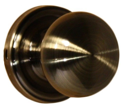 Brass Impresa Single - Weslock 00600IAIASL20 Impresa Knob, Antique Brass