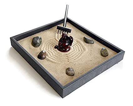 Amazon Com Buddha Decor Zen Garden Kit Black Indoor Zen Garden