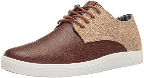 Ben Sherman Casual Shoes (Ben Sherman Men's Payton Oxford, Cognac/Linen-Cinder, 9.5 M US)