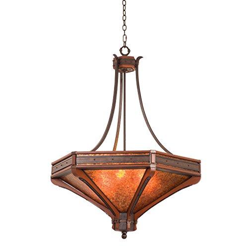 Kalco 5839NI, Aspen Large Bowl Pendant, 6 Light, 360 Total Watts, Iron