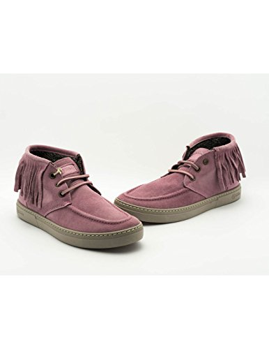 Stivaletti Naturalworld Rosso Pink Leather 6205 ZZrS8Awvq