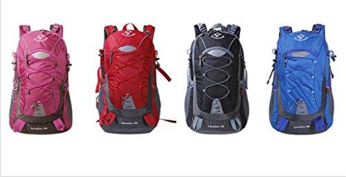 sacchetti di alpinismo 40L uomini e donne borsa a tracolla all'aperto zaino ultraleggero escursioni impermeabile viaggio zaino ( colore : Nero , dimensioni : 40L )