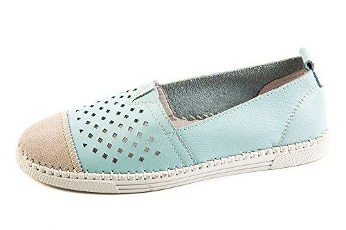 Mev para Zapatilla Bernie mujer Comfort Blau Blue Bww7Eq5