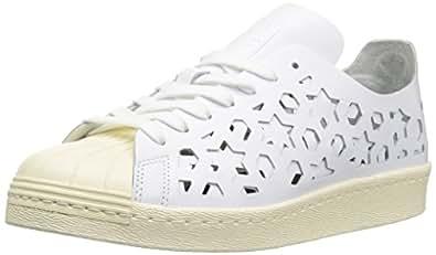 adidas Originals Women's Superstar 80s Sneaker, Cream White, 8
