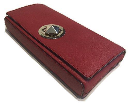 Kate Spade New York Keira Newbury Lane Saffiano Leather Clutch Wallet WKRU3365 (Dynasty Red) by Kate Spade New York