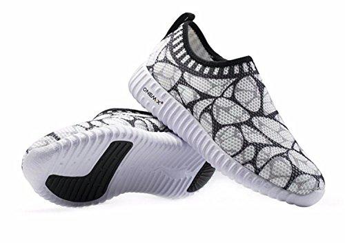 Onemix Womens Pustende Sneaker, Fritid Gang Joggesko Sort