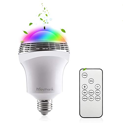 Color Changing Daylight Dimmable Led Light Bulb with Negative Oxygen Ion Generator, Anion LED Bulb, Air lonizer Air Refreshing Remote Control 50 Watt Equivalent E26 E27