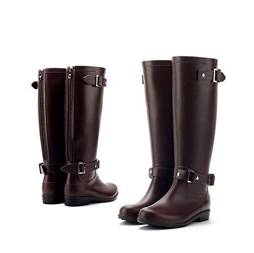Martin Boots Stylish High Boots Rain Boots Brown