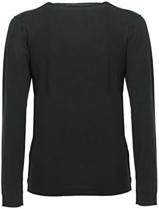 Calvin Klein Jeans Herren Pullover V-Neck aus hochwertiger Wolle Dunkelgrün