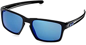 Oakley Mens Sliver MotoGP Sunglasses, Polished Black/Ice Iridium, One Size