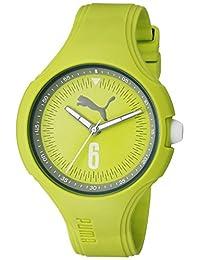 PUMA Women's PU911201002 Wave - Green Analog Display Quartz Green Watch