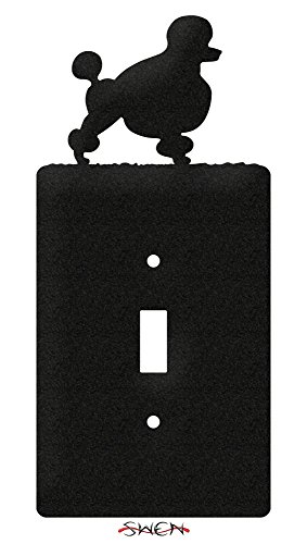 (SWEN Products POODLE Metal Wall Plate Cover)