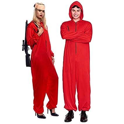 Disfraz Atracador Mono Rojo Unisex (Talla M) (+ Tallas)