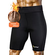 Men'S Weight Loss Sauna Hot Sweat Thermo Shorts Body Shaper Neoprene Athletic Yoga Pants Gym Tummy Fat Burner Slimming