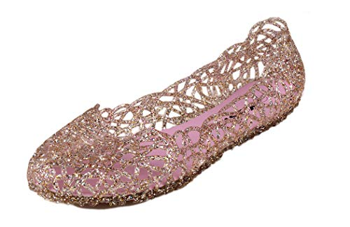 Kunsto Women's Bird Nest Jelly Ballet Flats US Size 11 Light Pink