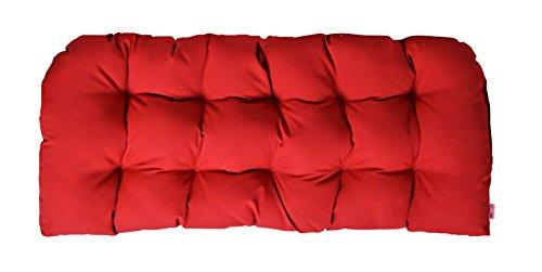Resort Spa Home Decor Indoor/Outdoor Tufted Cushion for Wicker Loveseat Settee - Sunbrella Canvas Jockey ()