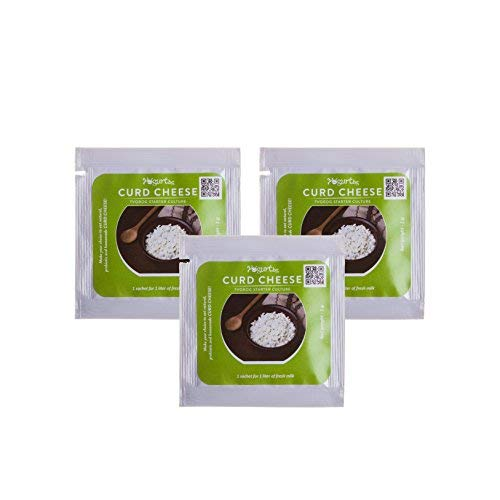 Curd Cheese Farmer Cheese Yogurt.bg - Tvorog Starter Culture Pack of 3 sachets for Home Made