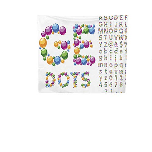 Sunset glow Pattern Tapestry Alphabet.jpg Symbols.jpg of.jpg Colorful.jpg Bubbles.jpg or.jpg Balls.jpg Gorgeous Tapestry 47W x 47L ()