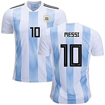 8ab017631 Argentina Lionel Messi #10 Soccer Jersey Men's Adult Home/Away World Cup  Short Sleeve