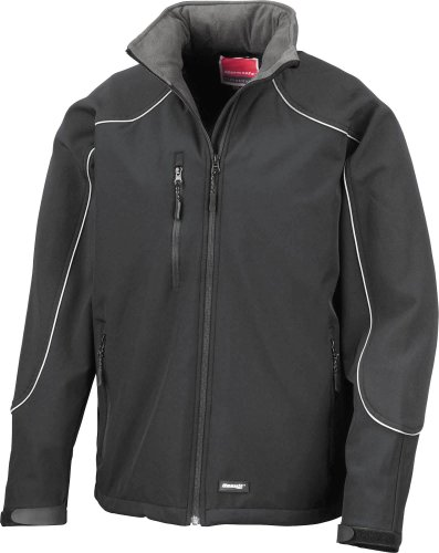 Result Ice Fell Hooded Soft Shell Jacket, Red / Black, L
