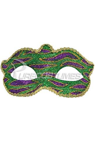[Mememall Fashion Mardi Gras Animal Print Child Mask (Green)] (Dog Costumes For Mardi Gras)