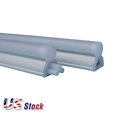 25PCS White Light LED Tube T5 7W 2FT Fluorescent Replacement Lamp for Light Box - US Stock