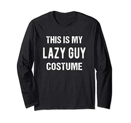 This Is My Lazy Guy Costume Funny Human Halloween Long Sleeve