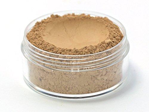 Vegan Mineral Wonder Powder Foundation - Shade ''Caramel'' medium with yellow undertone by Etherealle Cosmetics
