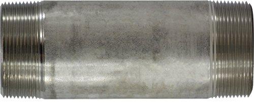 316 Stainless Steel 2 Diameter 6 Length 2 OD Midland Metal 2 OD 6 Length Midland 49-168 SCH 40 Welded 316 Stainless Steel Nipple 2 Diameter