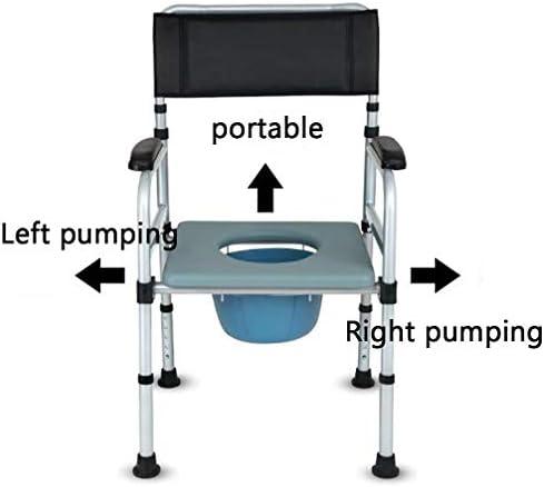Bbhhyy Toilettenstuhl Ältere WC-Sitzstuhl-Startseite Alte Potty Stuhl Toilette Folding Schwangere Frau Dusche Lehrstuhl Mobile