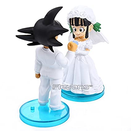Amazon.com: Anime Dragon Ball Z Goku y Chichi boda PVC ...