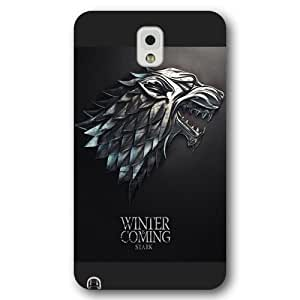 UniqueBox - Customized Personalized Black Frosted Samsung Galaxy Note 3 Case, Game of Thrones winter is coming Samsung Note 3 case, Only fit Samsung Galaxy Note 3